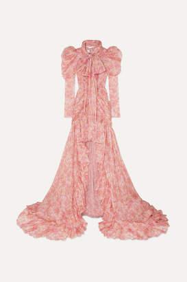 Giambattista Valli Ruffled Floral-print Silk-chiffon Gown - Pink