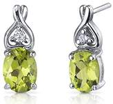 Peora Peridot Earrings Sterling Silver Rhodium Nickel Finish 2.50 Carats Classic Style