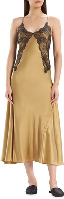 Josie Natori Jolie Long Silk Charmeuse Nightgown