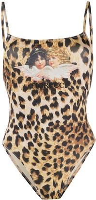 Fiorucci Angels leopard print one piece