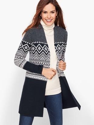 Talbots Fair Isle Open Sweater