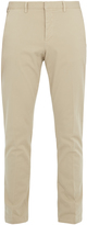 Ami Slim-fit brushed cotton-blend chino trousers