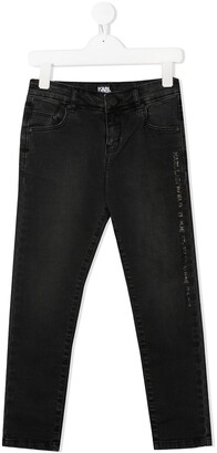 Karl Lagerfeld Paris Logo Strip Jeans
