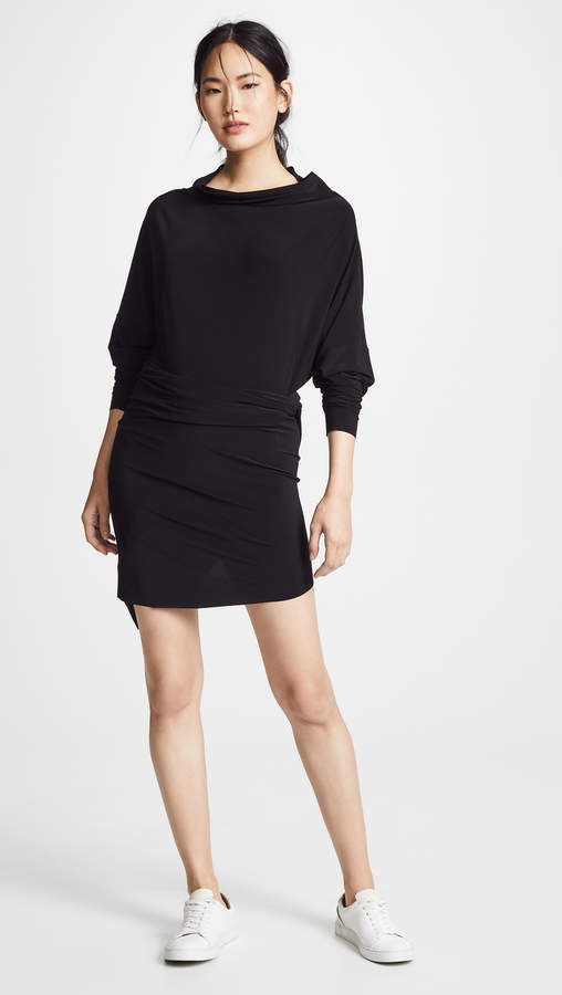 Norma Kamali All In One High Low Dress