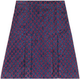 Gucci Lurex GG Pleated Mini Skirt