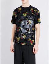 Mcq Alexander Mcqueen Floral-print Cotton-voile T-shirt