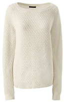 Lands' End Women's Plus Size Lofty Textured Mix Stitch Boatneck Sweater-Fresh Yellow