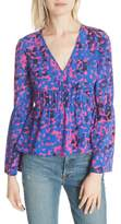 Tracy Reese Ruched Stretch Silk Blouse