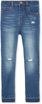 Epic Threads Raw Hem Distressed Skinny Jeans, Toddler & Little Girls (2T-6X), Only at Macy's