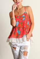 Umgee USA Sleeveless Print Top