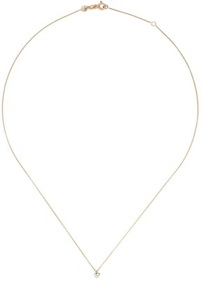 Kismet by Milka 14kt Rose Gold Diamond Love Mini Necklace