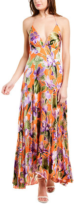 Alice + Olivia Hetty Silk-Blend Maxi Dress