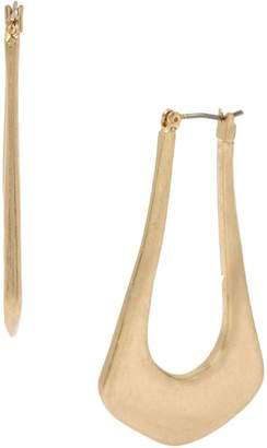 Robert Lee Morris Soho Sculptural Goldtone Open Hoop Earrings