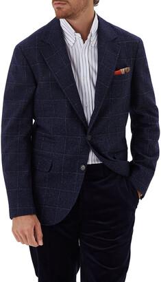 Brunello Cucinelli Men's Windowpane Donegal Sport Jacket