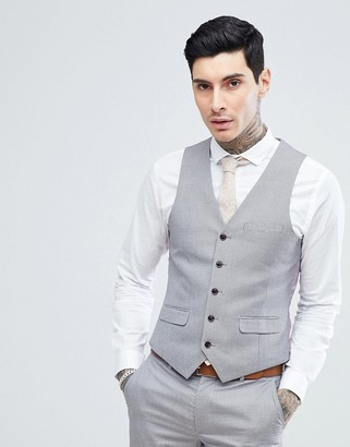 Harry Brown Lilac Puppy Tooth Wedding Skinny Fit Suit Waistcoat