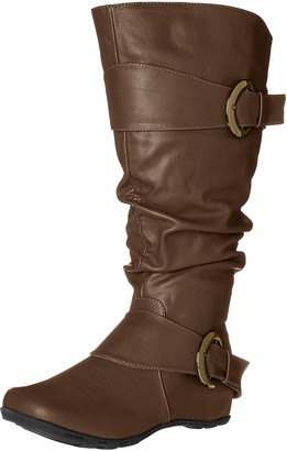 Brinley Co. Women's Hilton-xwc Slouch Boot