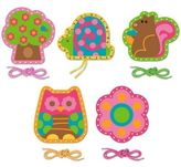 Stephen Joseph Owl Lacing Cards (Set of 5)
