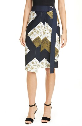 Ted Baker Pearl Floral Print Wrap Skirt