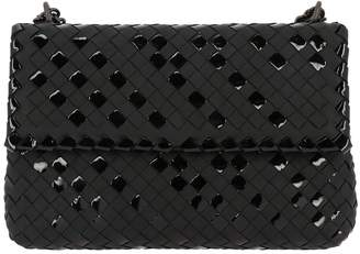Bottega Veneta Crossbody Bags Crossbody Bag Olimpia With Sliding Chain Shoulder Strap And Woven Leather And Patent Effect