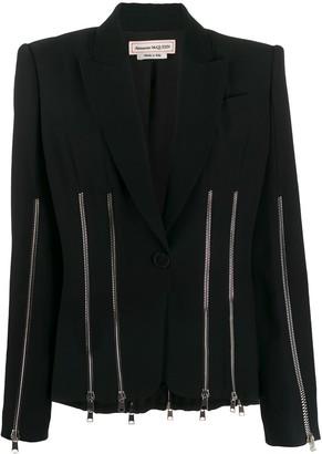 Alexander McQueen zip embellished blazer