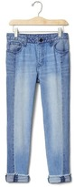 Gap 1969 Frayed Two-Tone Girlfriend Jeans