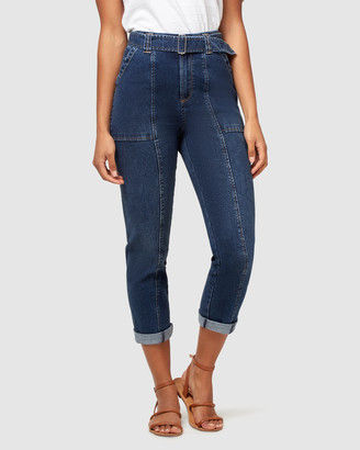 Jeanswest Avril High Waisted Belted Straight
