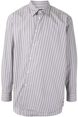 SONGZIO Deconstruct striped shirt