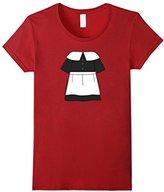 Men's Cute Ladies Pilgrim Dress Thanksgiving Costume Shirt 2XL