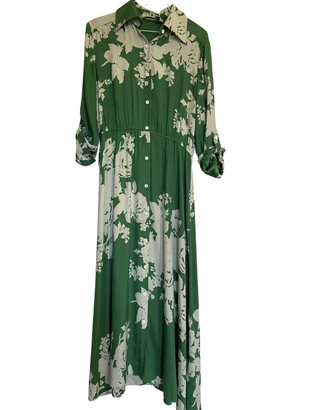 Alice + Olivia Green Silk Dress for Women
