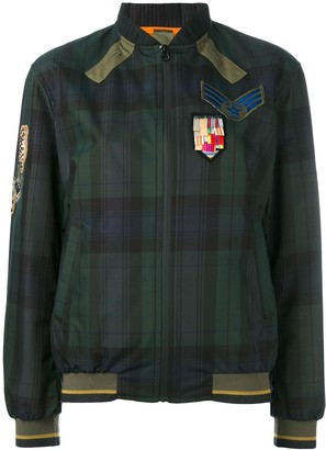 Mr & Mrs Italy Plaid Print Bomber Jacket