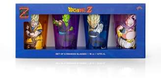 Dragon Ball Z Just Funky Fighters Pint Glasses | 16-Ounce Character Glasses | Set of 4