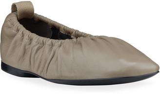 Rag & Bone Elly Square-Toe Leather Ballerina Flats