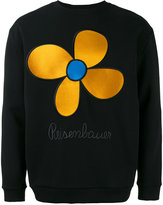 Christopher Kane embroidered flower unisex sweatshirt