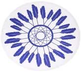 Riah Fashion Blue-Feather Beach Towel