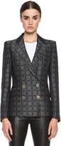 Balmain Pierre Brocade Acetate-Blend Blazer in Black