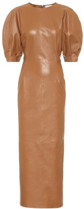 Gabriela Hearst Coretta leather midi dress