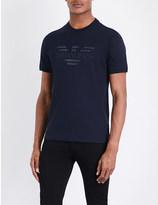 Armani Jeans Denim logo-detail cotton-jersey t-shirt