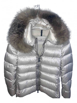 Moncler Fur Hood Gold Synthetic Jackets