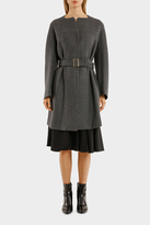 Jil Sander Navy Double Face Wool Coat