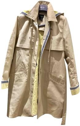Dennis Basso Beige Cotton Coat for Women