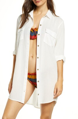 Madewell Cover-Up Shirtdress