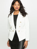 White Blazer Gold Buttons - ShopStyle