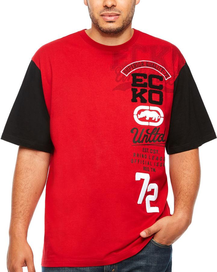Ecko Unlimited Unltd Short Sleeve Crew Neck T-Shirt-Big and Tall