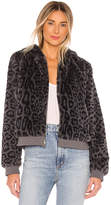 Bella Dahl Reversible Faux Fur Bomber Jacket