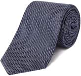 HUGO BOSS Zig Zag Dot Textured Tie