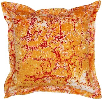 Emily Laura Designs Abstract Orange Velvet Cushion