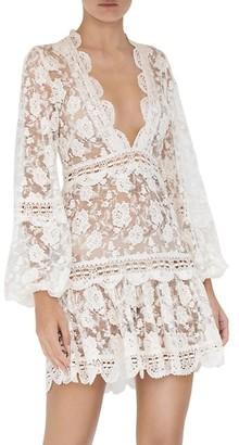 Alexis Preena Long-Sleeve Lace Mini Dress