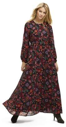 Scoop Women's Floral Print Maxi Dress