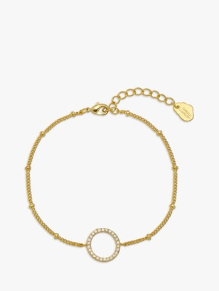 Estella Bartlett Cubic Zirconia Circle Chain Bracelet, Gold