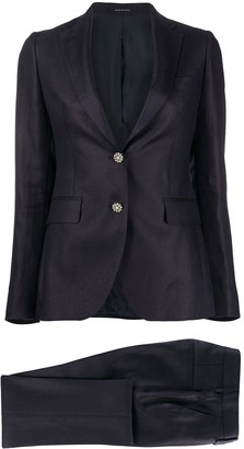 Tagliatore Jewelled Button Blazer